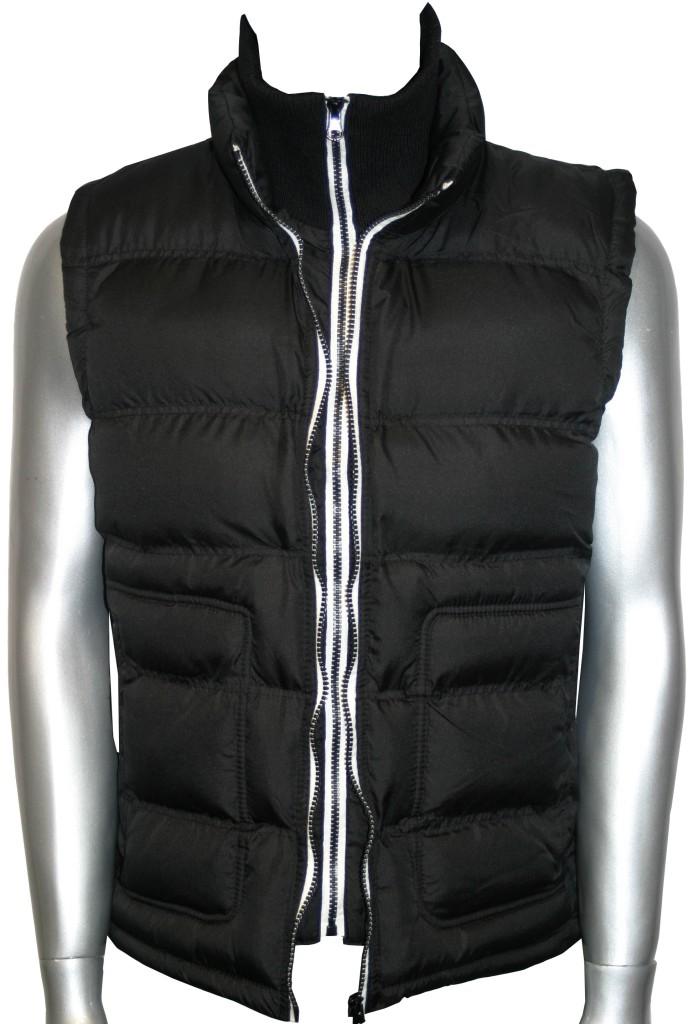 mens body warmer gilet black double zip padded jacket ebay. Black Bedroom Furniture Sets. Home Design Ideas