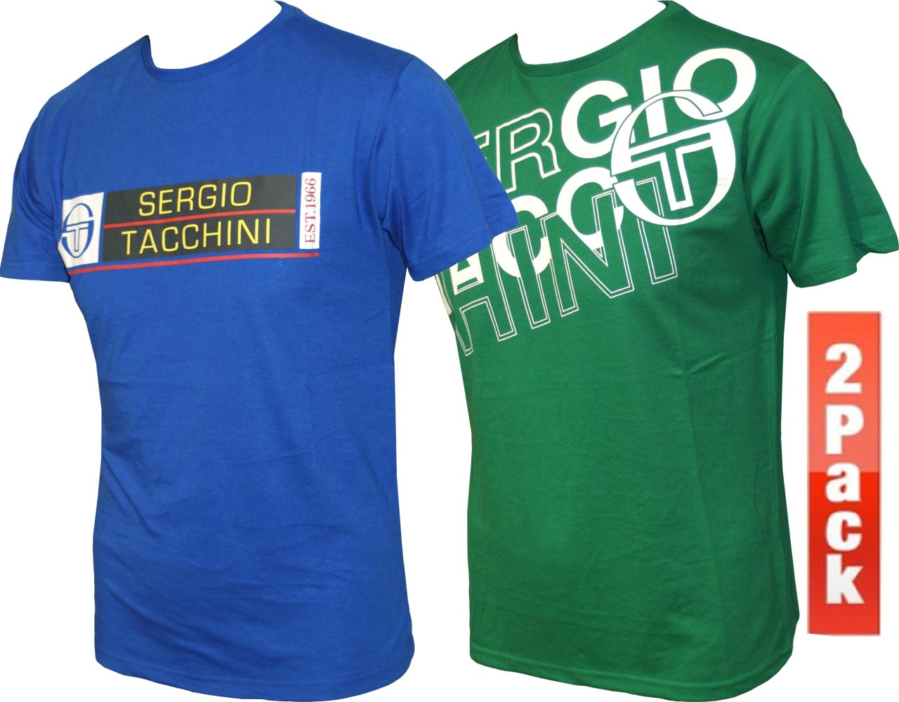 NEW-MENS-Sergio-Tacchini-PACK-OF-TWO-Tee-T-Shirt-SIZE