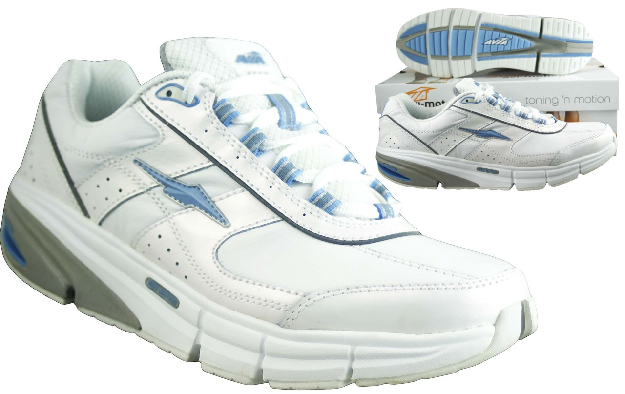 new womens avia ishape avi motion white trainers size ebay. Black Bedroom Furniture Sets. Home Design Ideas