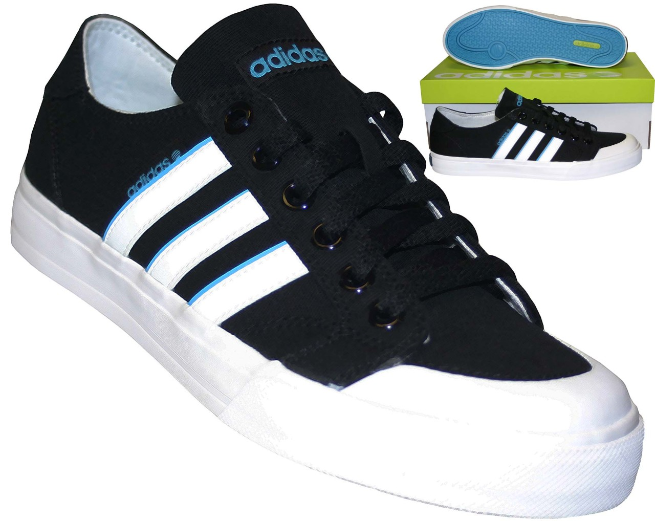 new mens adidas clemente stripe lo shoes black lace up