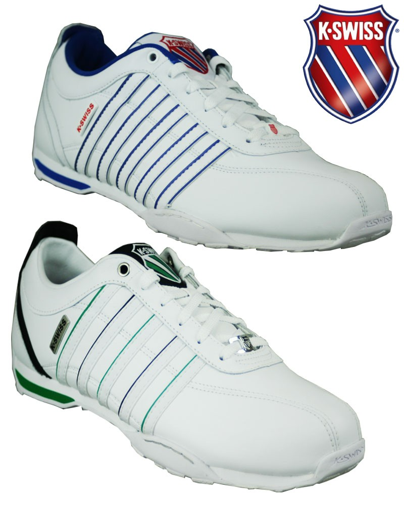 mens k swiss arvee 1 5 trainer wht black green uk size 8 9. Black Bedroom Furniture Sets. Home Design Ideas