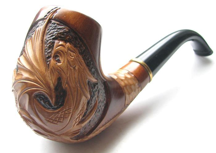 Sale us uk hand carved tobacco smoking pipe pipes dragon