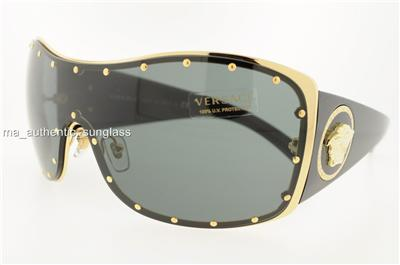 Versace Sunglasses Gold Frame : VERSACE SUNGLASSES VE 2129B 100287 1002/87 GOLD FRAME GRAY ...