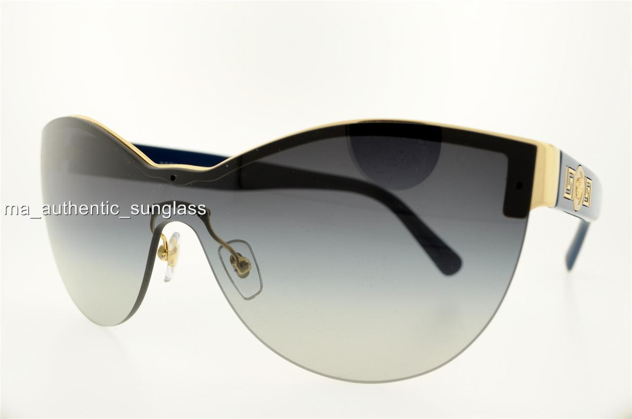 Versace Sunglasses Gold Frame : VERSACE SUNGLASSES VE 2144 10028G 1002/8G GOLD FRAME GRAY ...