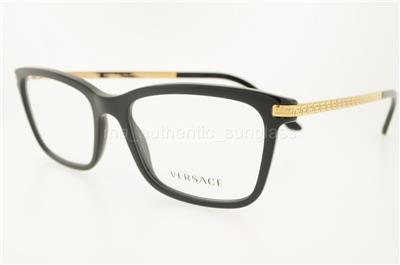 Clear Frame Versace Glasses : VERSACE VE 3210 GB1 55MM BLACK FRAME CLEAR DEMO LENSES ...