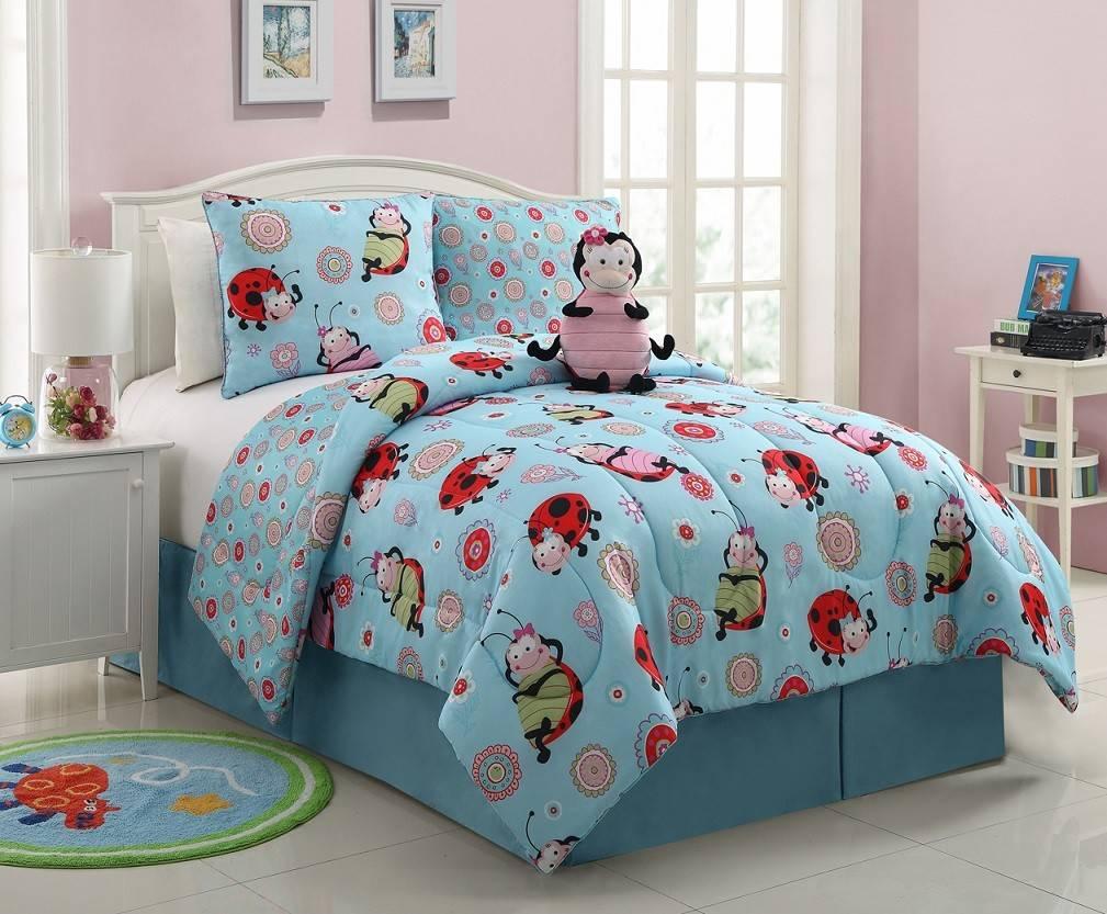 vibrant fun lola ladybug girls reversible comforter set nwt twin or full size ebay. Black Bedroom Furniture Sets. Home Design Ideas