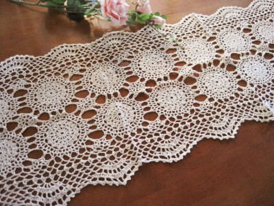 Crochet Patterns Lace Table Runners : Coming again!! Vintage Style Hand Crochet Lace Cotton ...