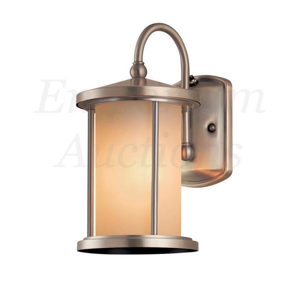 Lantern Light Brushed Nickel Wall Cylinder Lamp Outdoor