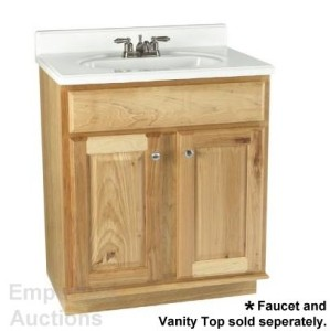 Hickory Bathroom Vanity Shop Allen Roth 48 Quot Carson Hickory Bath Vanity At Lowes Real