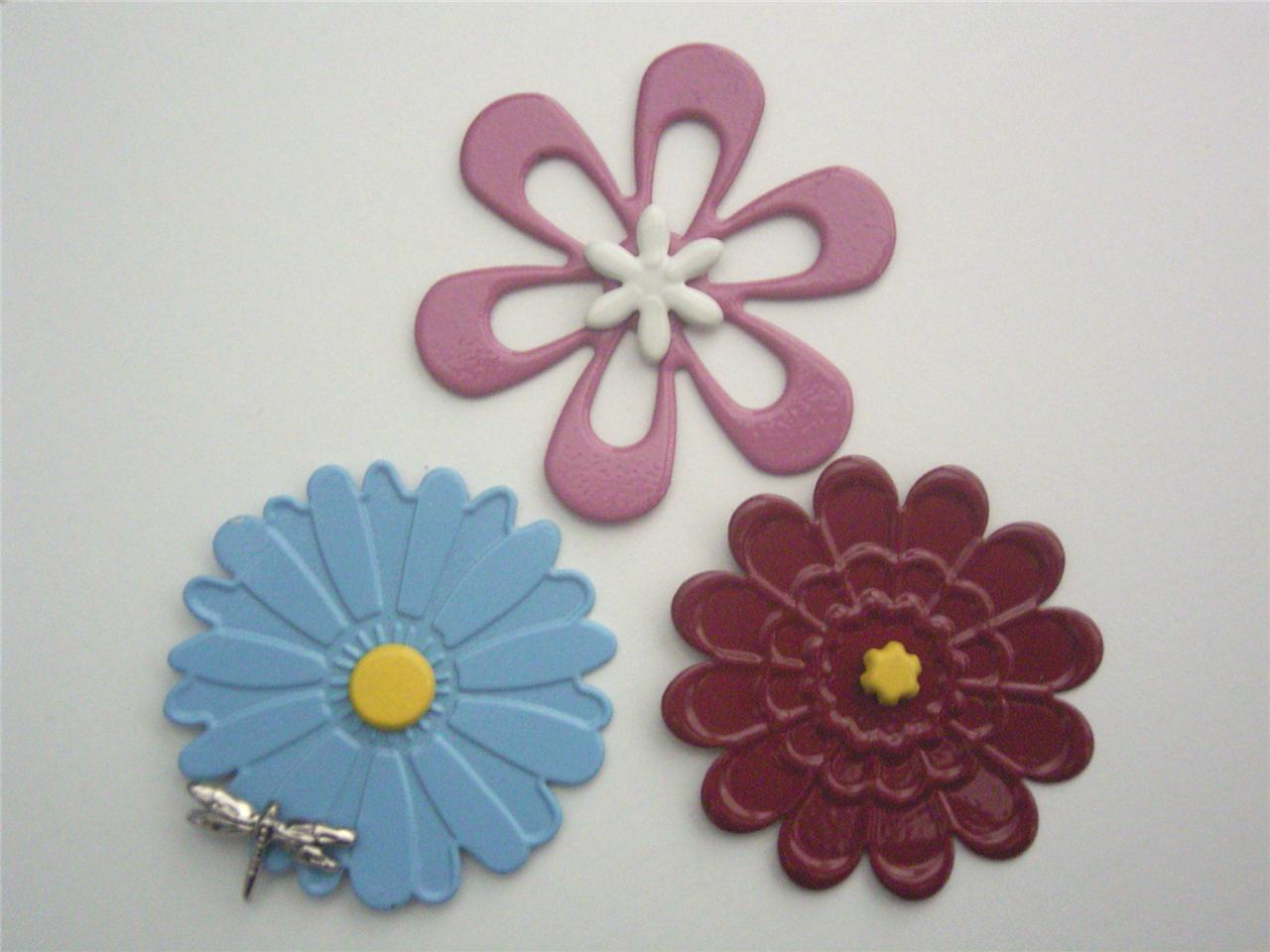 BRADS-CHARMS-FLOWERS-set-of-3-garden-daisy