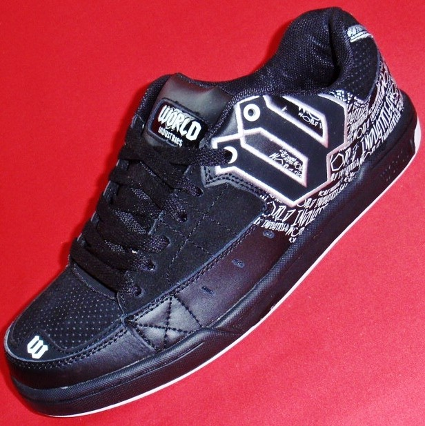 NEW Men's WORLD INDUSTRIES VANDAL Black Leather Athletic ...