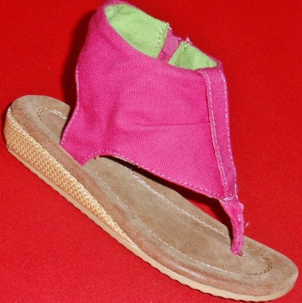 NEW-Girl-039-s-Toddler-039-s-CARTER-039-S-MADAME-Pink-Canvas-Sandals-Thongs-Wedge-Dress-Shoe