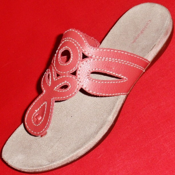 NEW-Womens-CROFT-BARROW-BRITA-Coral-Flats-Thongs-Sandals-Casual-Dress-Shoes