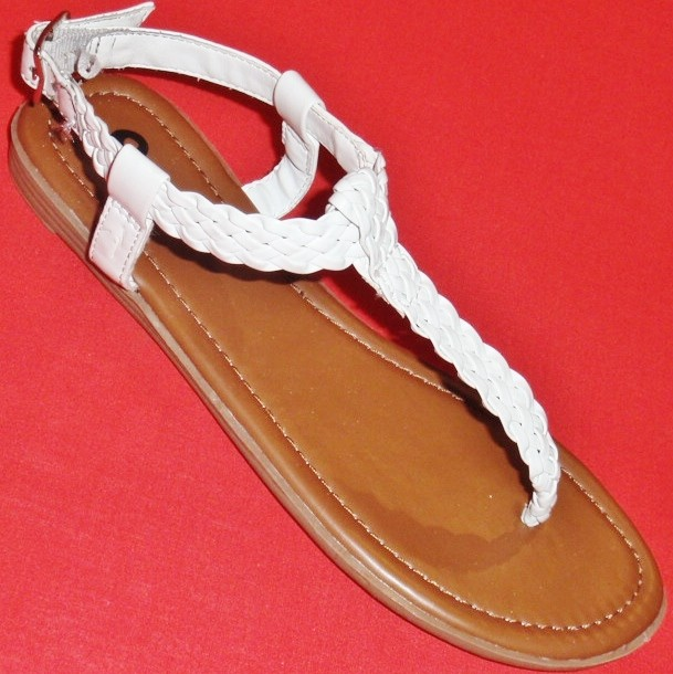 NEW-Women-039-s-SO-ANISSA-White-Fashion-Casual-Dress-Summer-Sandals-Thongs-Shoes