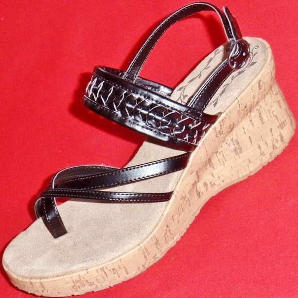 new s mudd black wedge thongs fashion sandals casual