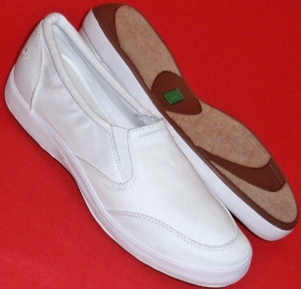 new womens grasshoppers ef37380 white twill loafers casual