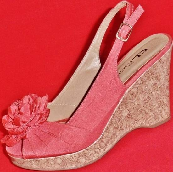 NEW Women's CL LAUNDRY ILENA Coral Peep Toe Fashion Wedge ...