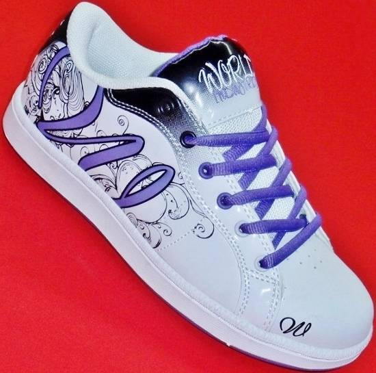 NEW Women's WORLD INDUSTRIES MONROE White/Purple Athletic ...