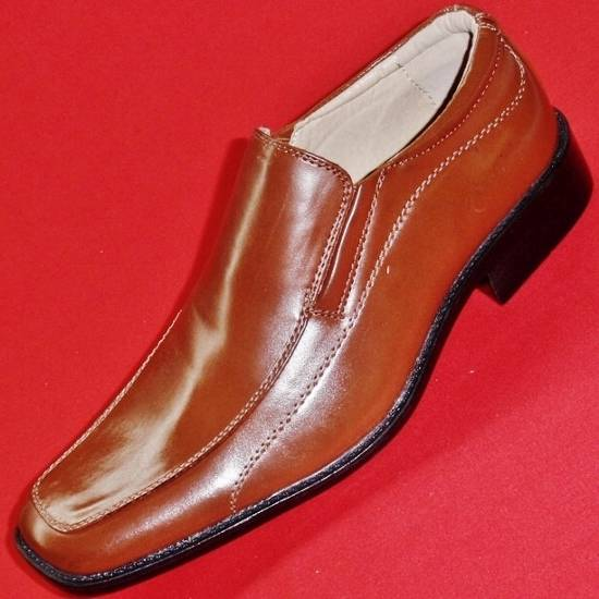 new s apt 9 pallen brown leather loafers slip on