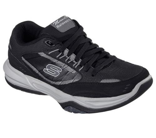 Men's SKECHERS RELAXED FIT MONACO 51577 Black Athletic/Casual Sneakers Shoes NEW Casual wild