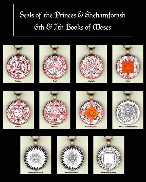 Seals of The Seven Princes, Schemhamforasch, Orion photo pendants