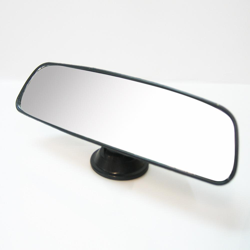 Car universal interior rear view mirror rear view suction cup 23cm driving glass ebay for Interior rear view mirror replacement glass