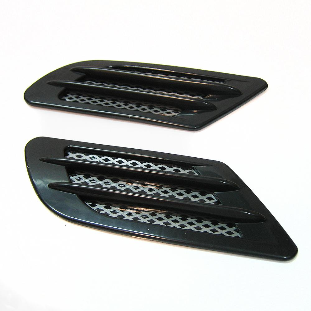 Air Intake Vent : Black wing air side vent trim intake fender cover duct