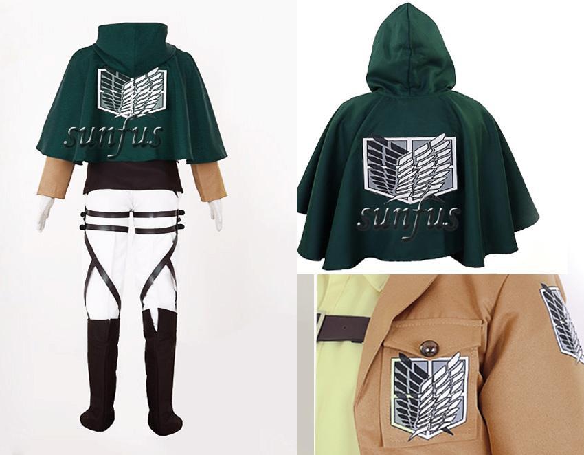 Attack On Titan Aot Shingeki No Kyojin Hanji Zoe Survey Corps Leather Cosplay Ebay