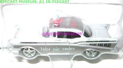 CHEVROLET CHEVY BEL AIR POLICE CAR TULSA JOHNNY LIGHTNING DIECAST 2.0