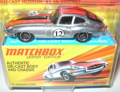 61 1961 JAGUAR E TYPE DIECAST LESNEY MATCHBOX |