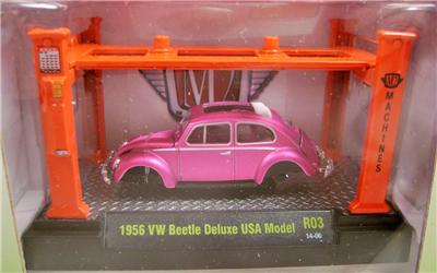 1956 56 Vw Volkswagen Beetle Bug Usa Model Kit W Lift M2