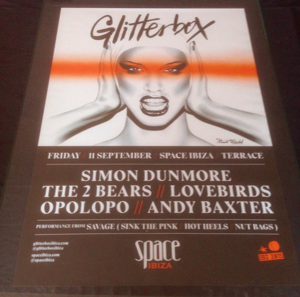 Glitterbox space ibiza club posters 2015 2016 for Funky house songs