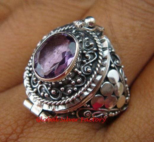 Moonstone Poison Ring