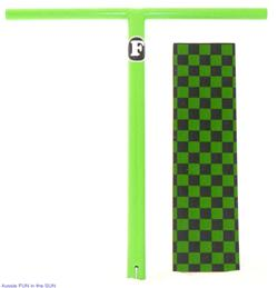 NEW-One-Piece-GREEN-Scooter-Chrome-4130-Molly-T-Bar-Grip-tape-Fit-Razor-Pro