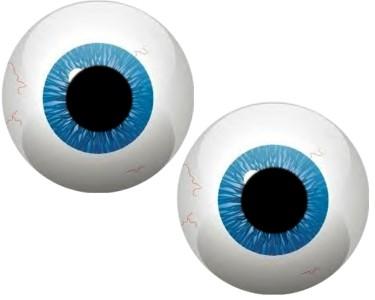 MONSTER ROUND BLUE EYE BALLS #5 VINYL DECAL STICKERS*