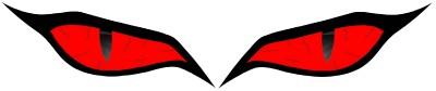 CUSTOM MONSTER EVIL RED EYES #2 VINYL DECAL STICKER SET | eBay