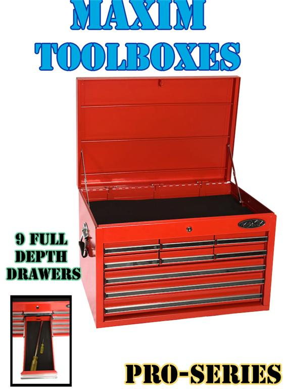 MAXIM-9-Drawer-Tool-Chest-Cabinet-Toolbox-box-Storage