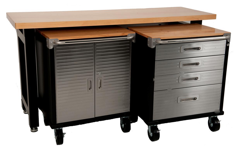 Maxim Garage Storage System Workbench Cabinet Toolbox Shed