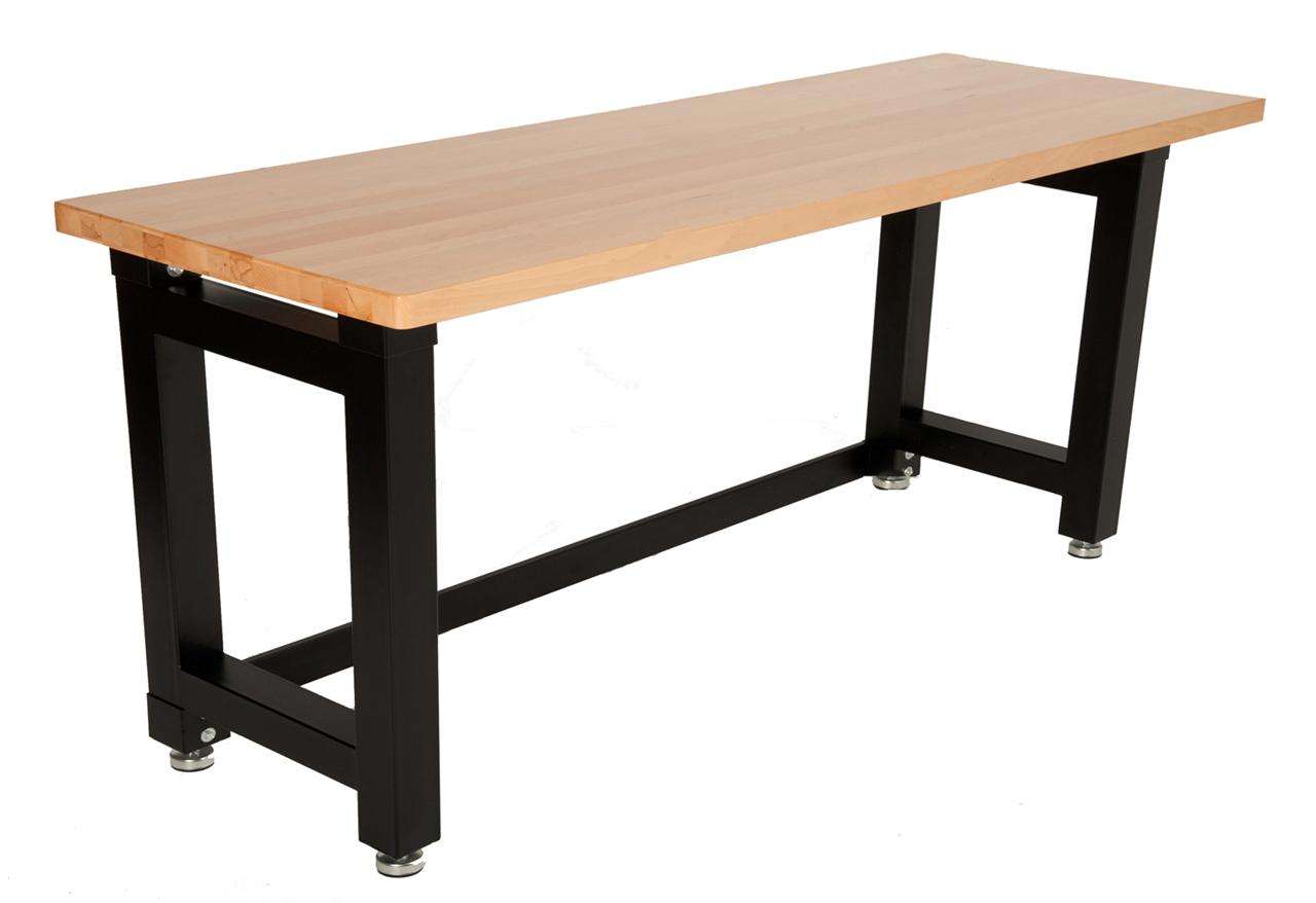 Maxim Workbench Garage Shed Workshop Steel Wooden Top Hardwood Timber Table Set Ebay