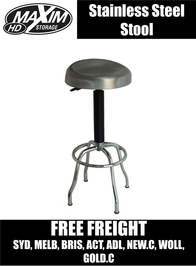 Maxim HD Stainless Steel Stool Chair Seat BAR Kitchen  : 612604958o from ebay.com.au size 755 x 1024 jpeg 62kB