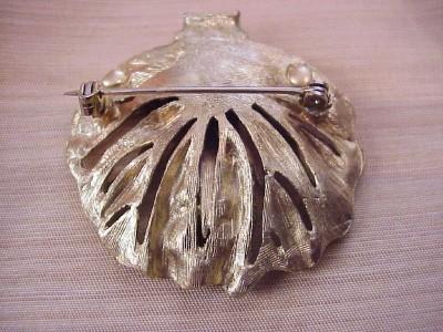 rhinestone gold tone vintage jewelry refinishing