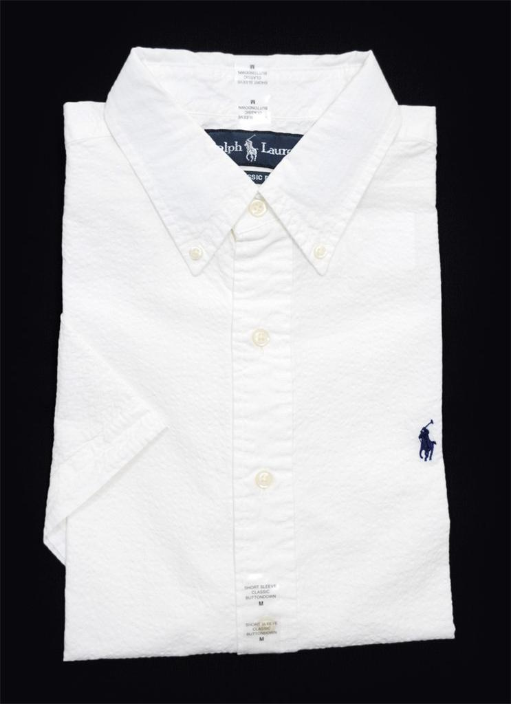 Nwt ralph lauren polo mens classic fit short sleeve for Mens short sleeve white dress shirt