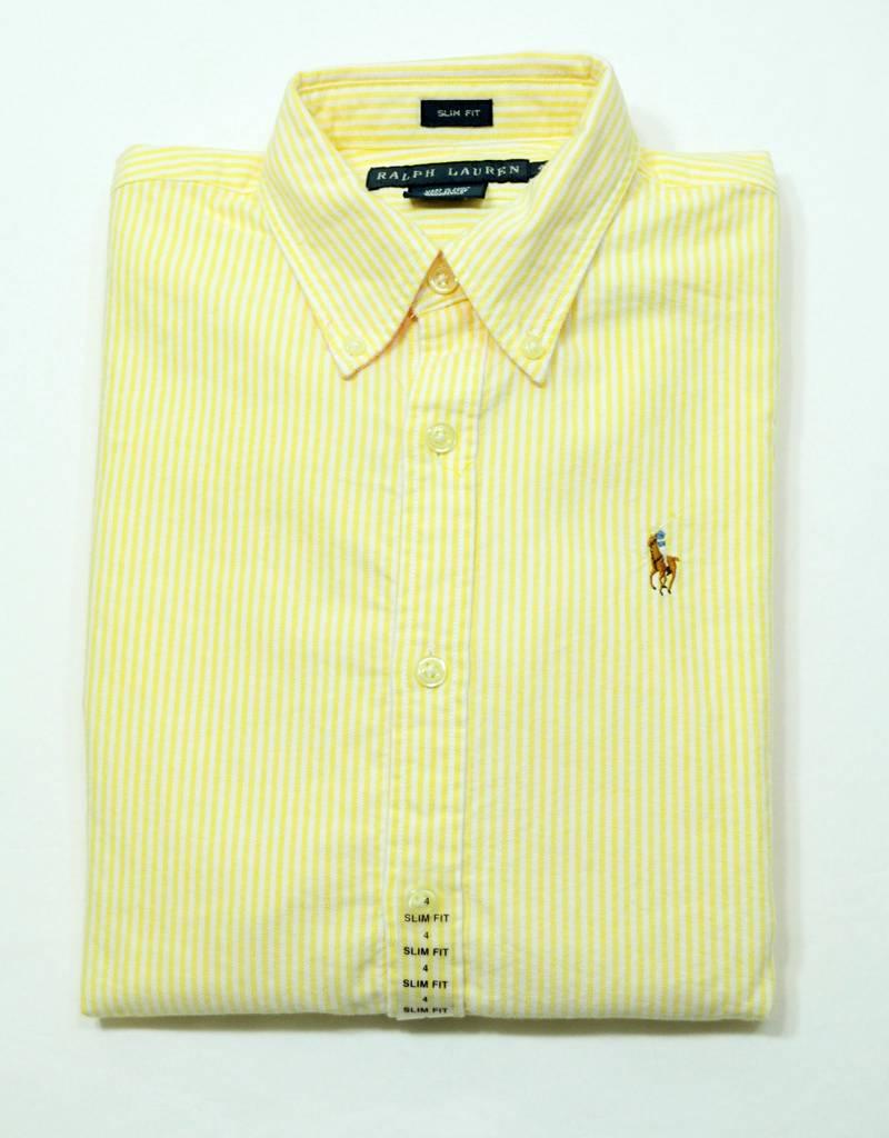 Nwt Polo Ralph Lauren Womens Slim Fit Long Sleeve Oxford