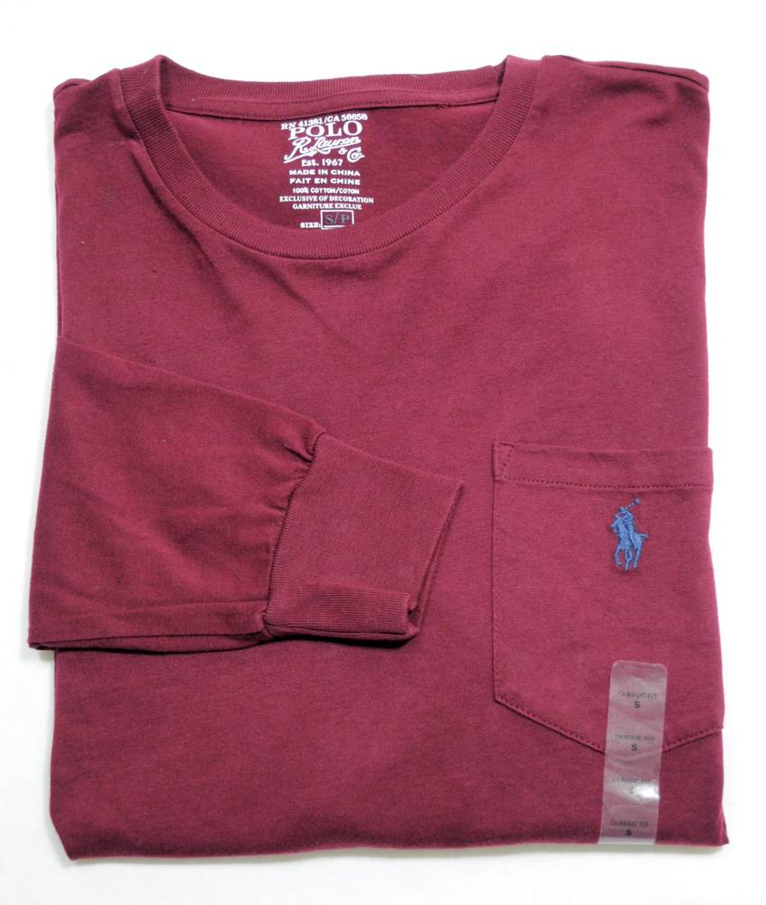 new with tag ralph lauren polo mens cotton long sleeve