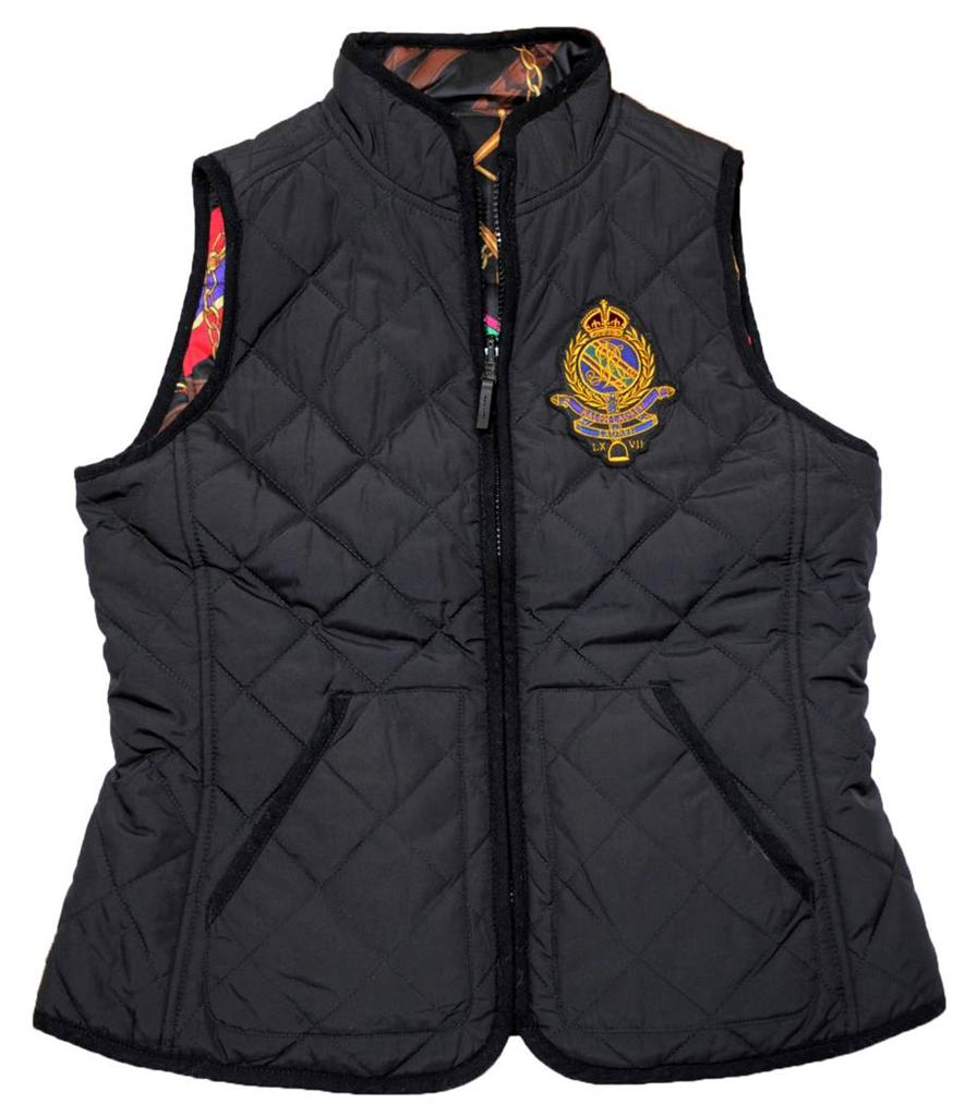 NEW With Tag POLO Ralph Lauren Womens REVERSIBLE QUILT Equestrian Vest Jacket | EBay
