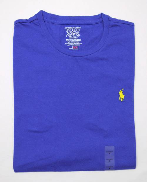 New with tag ralph lauren polo mens cotton t shirt tee for Polo custom fit t shirts