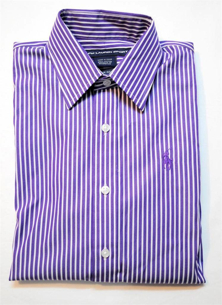 New polo ralph lauren womens slim fit long sleeve dress for Purple polo uniform shirts