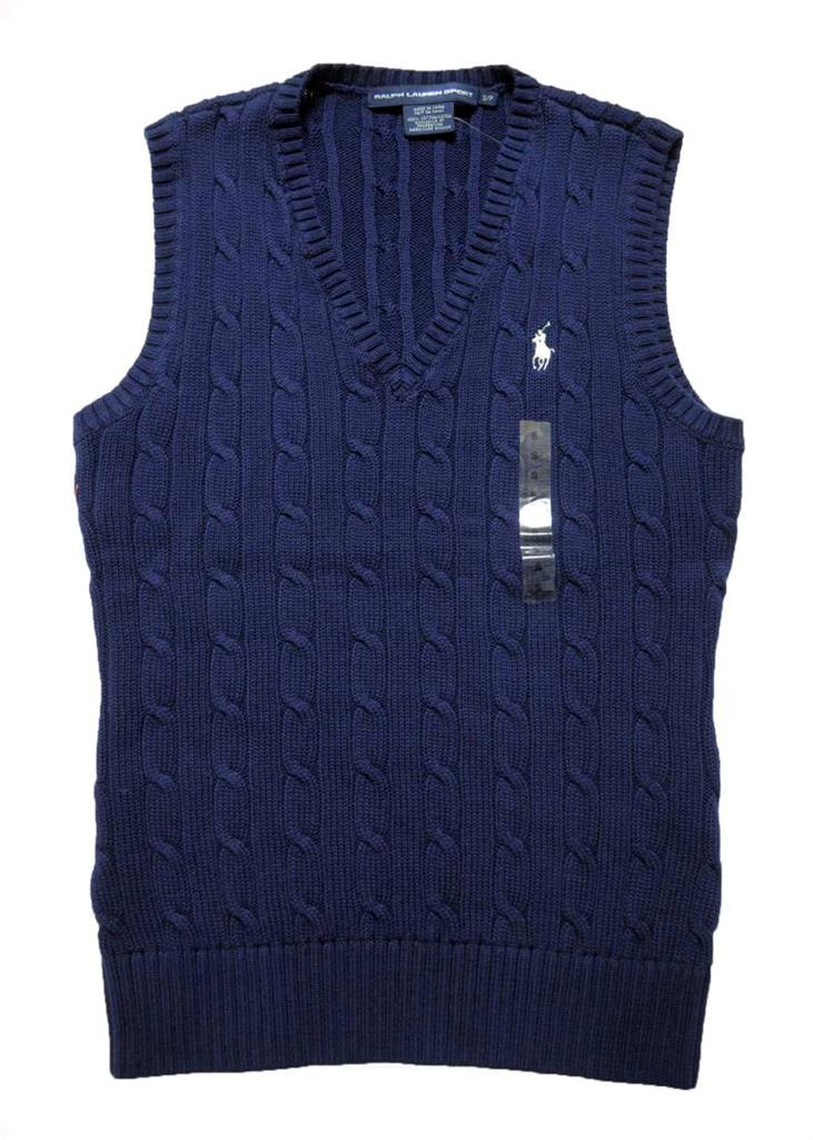 Knitting Vest For Women : New with tags polo ralph lauren womens cable knit sweater