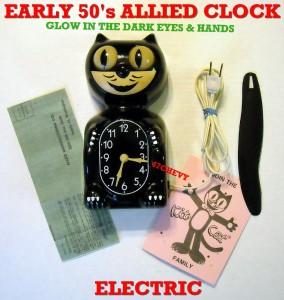 1950 S Antique Electric Kit Cat Klock Kat Clock Allied