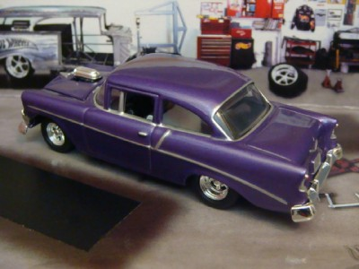 56 Chevy Pro Street http://www.ebay.com/itm/56-Chevy-Bel-Air-BLOWN-Pro-Street-1-64-Scale-Limited-Edition-4-Photos-Below-/150945722656